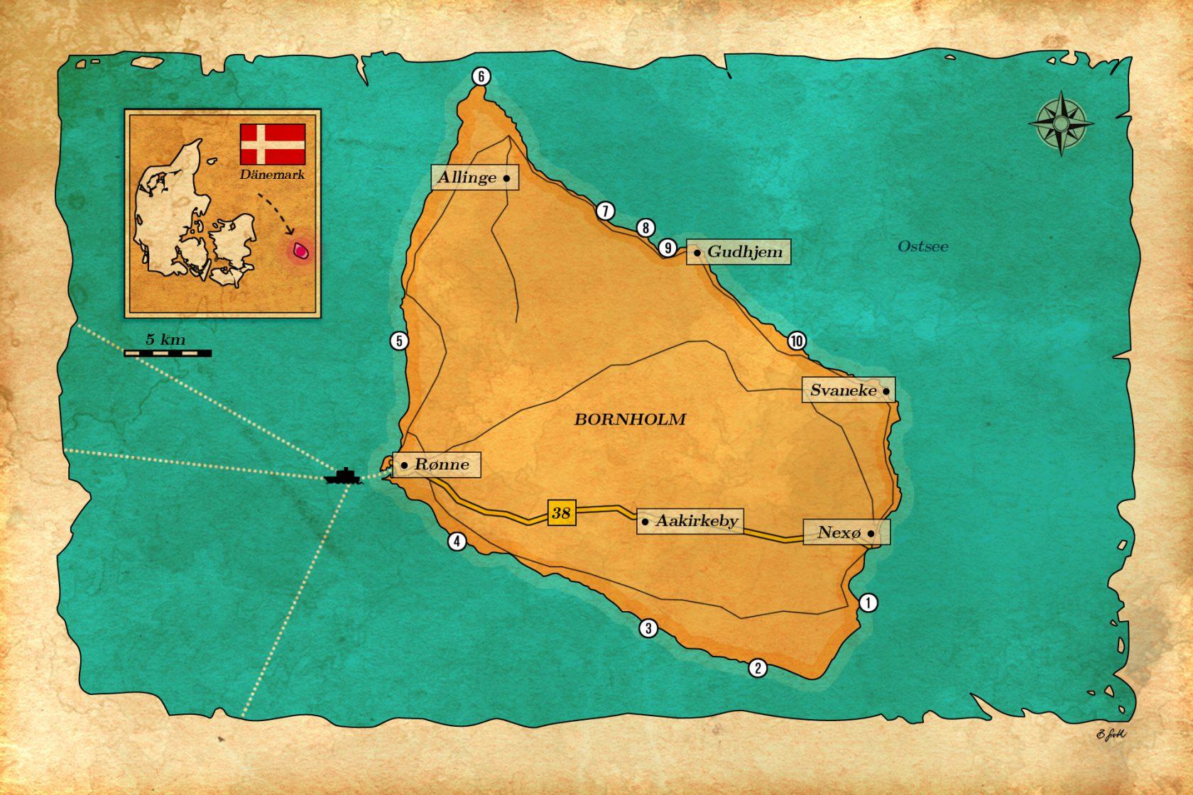 Hotspots zum Angeln auf Bornholm