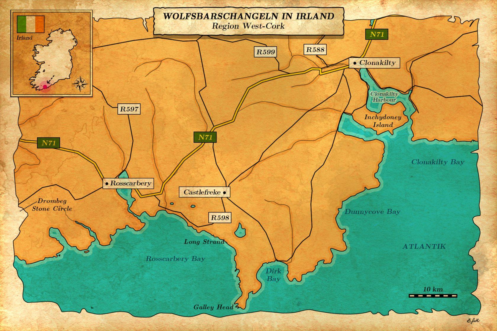 Beste Plätze zum Wolfsbarsch angeln in Irland