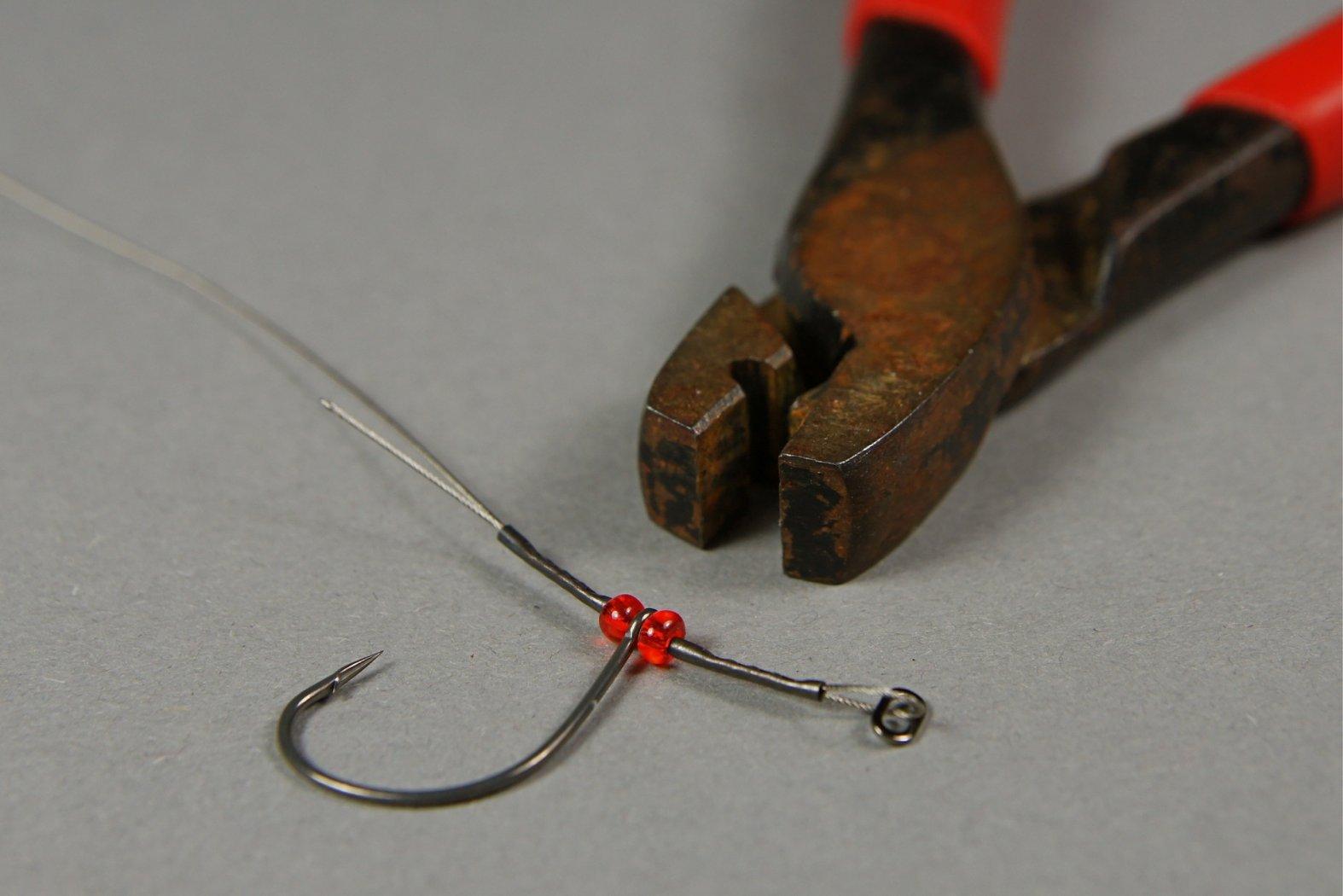 Drop-Shot-Rig aus Stahlvorfach