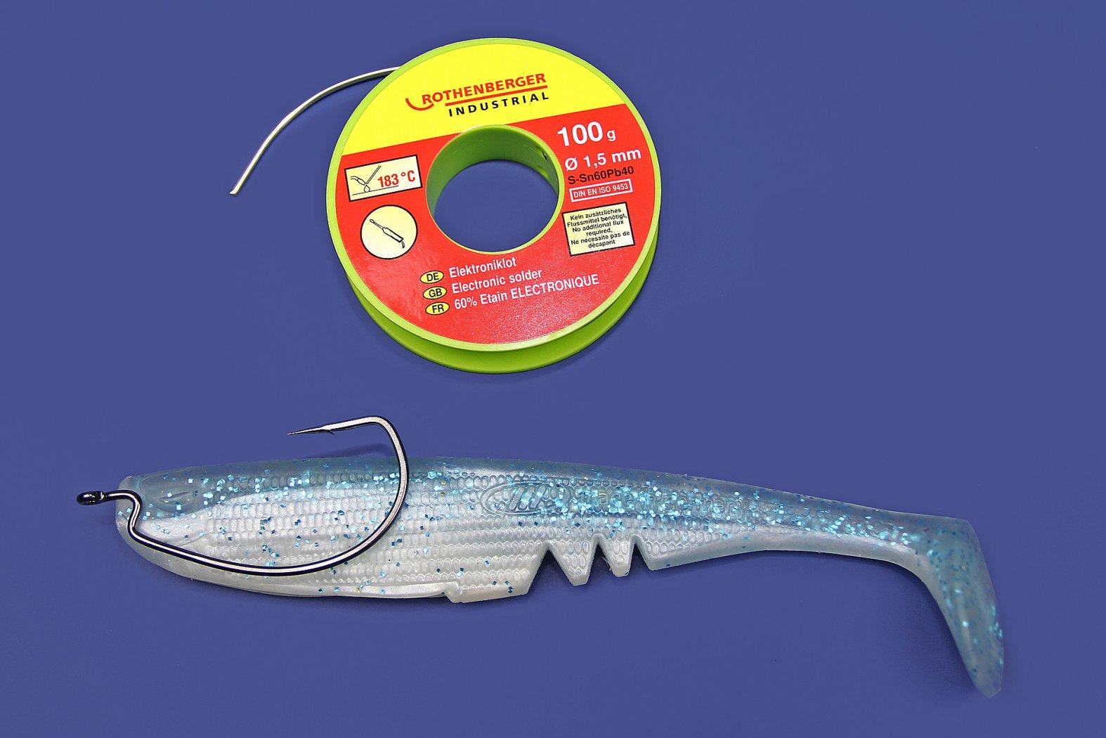 gummifisch mit offsethaken