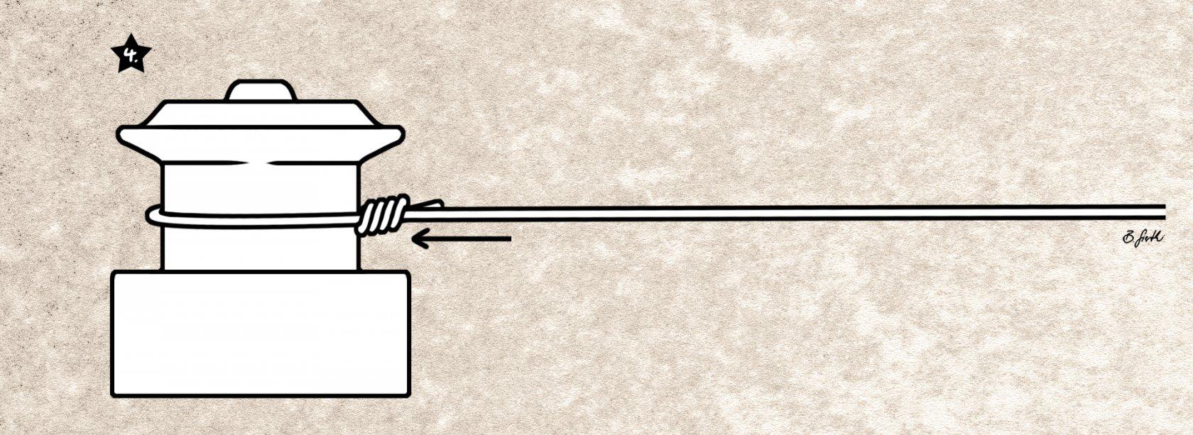 Der fertige Grinner-Spulenknoten