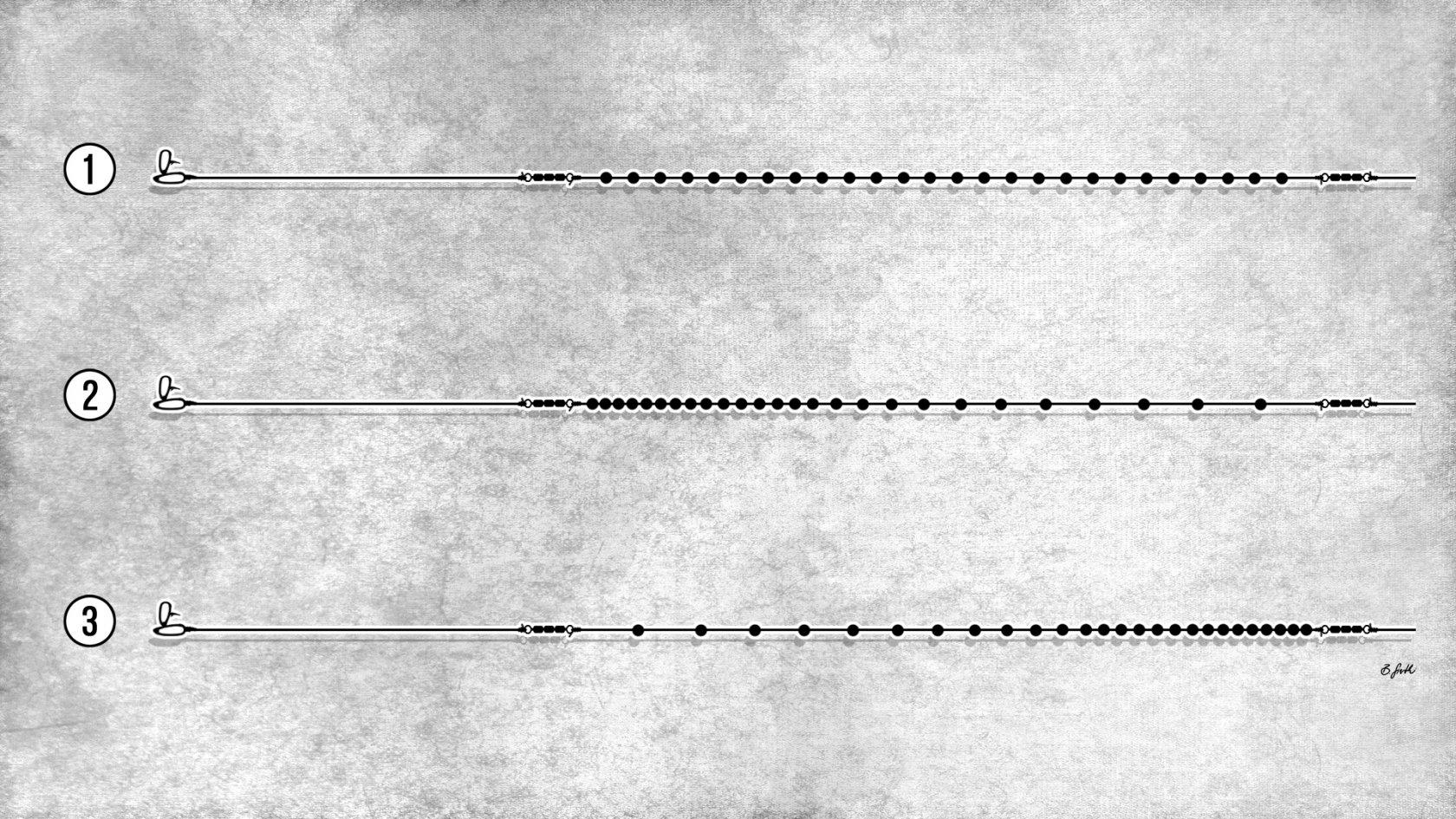 Verschiedene Bleiketten-Montagen zum Forellenangeln