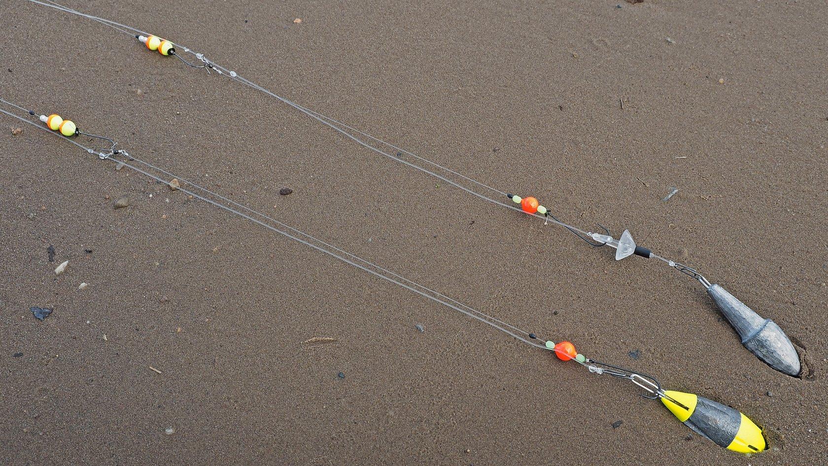 Das brandungsvorfach f r alle f lle dr catch besser for Flounder rigs surf fishing