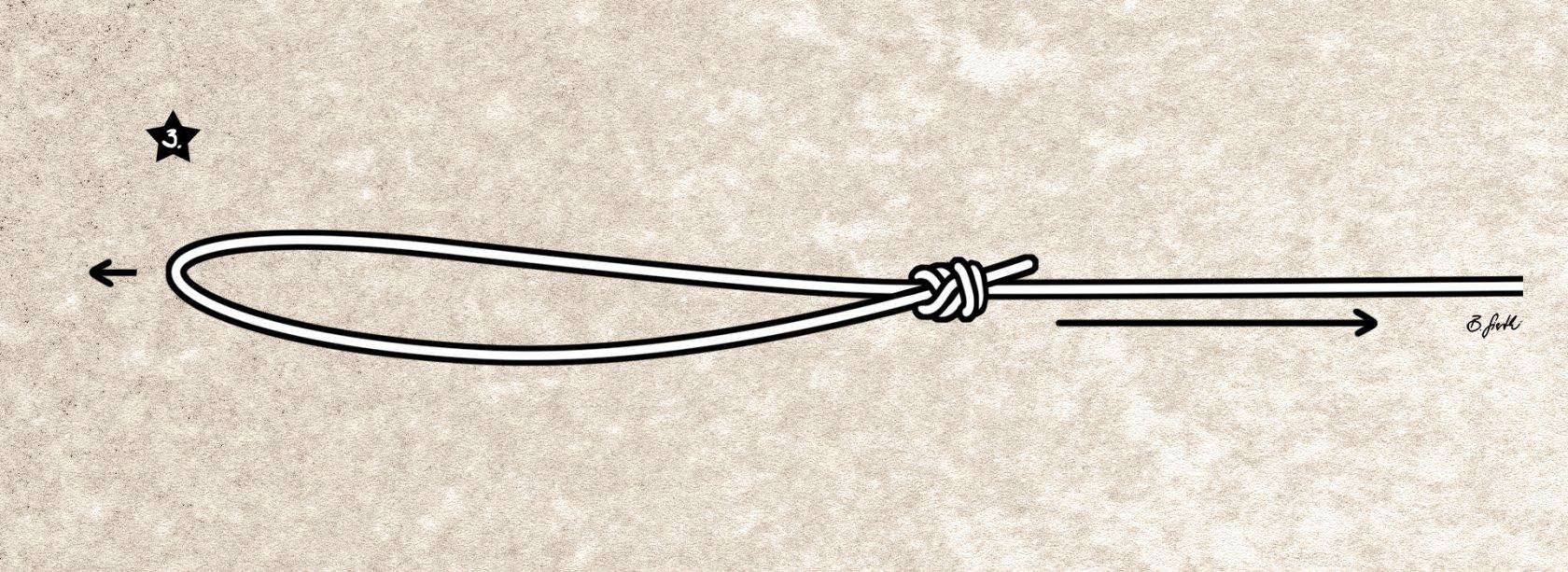 Der fertige Achterknoten mit Schlaufe