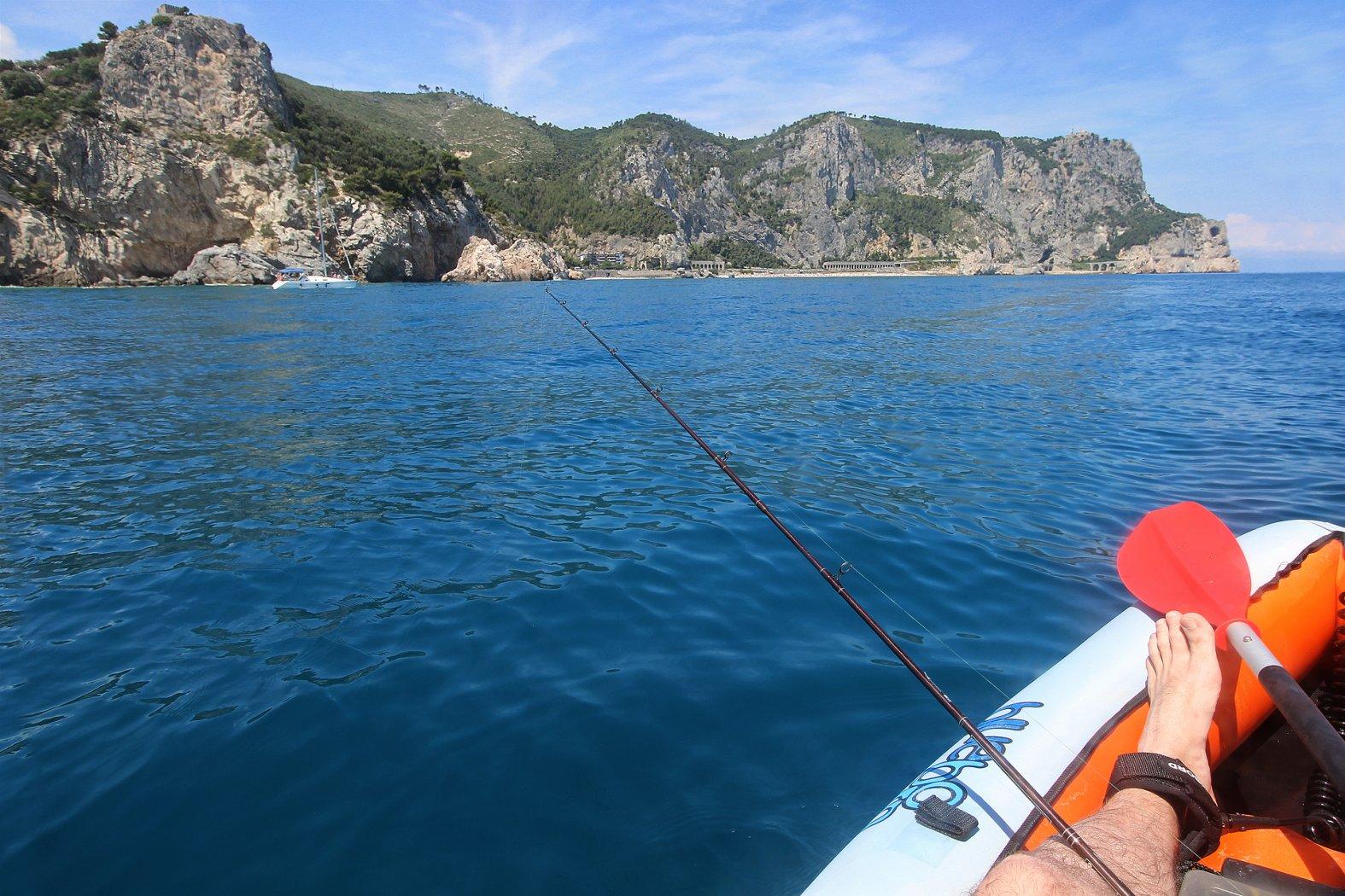 Driftfischen vom Kajak im Mittelmeer