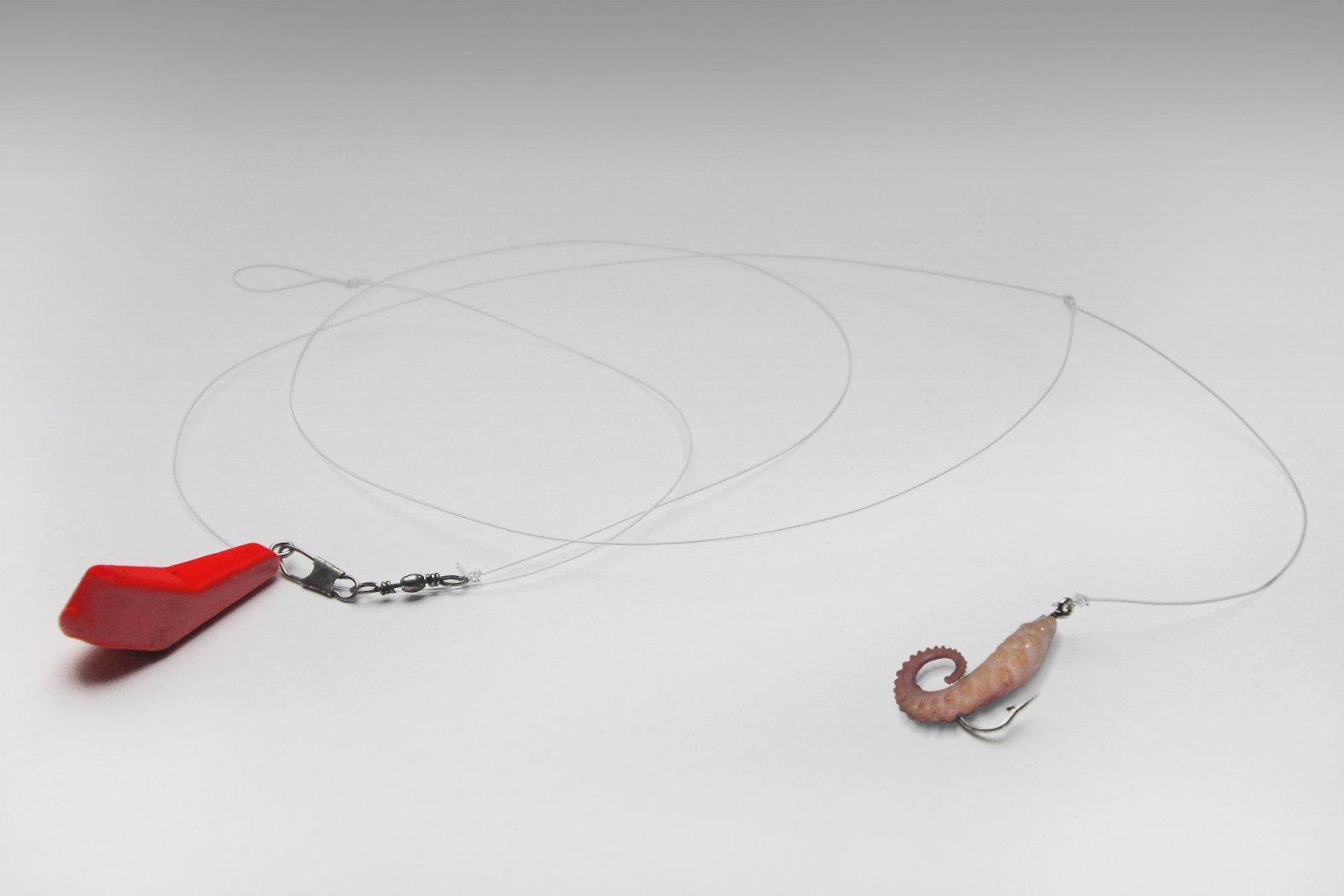 Montage mit Seitenarm und Einzelhaken
