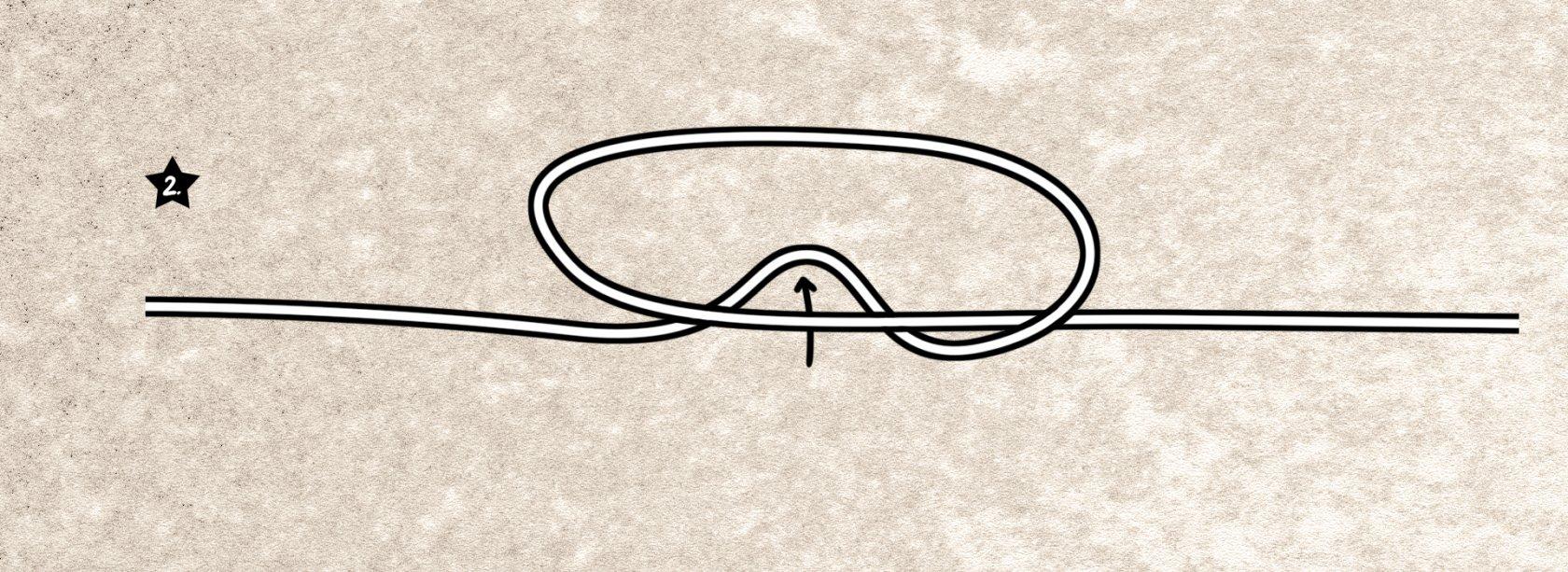 Der Springerknoten wird gebunden