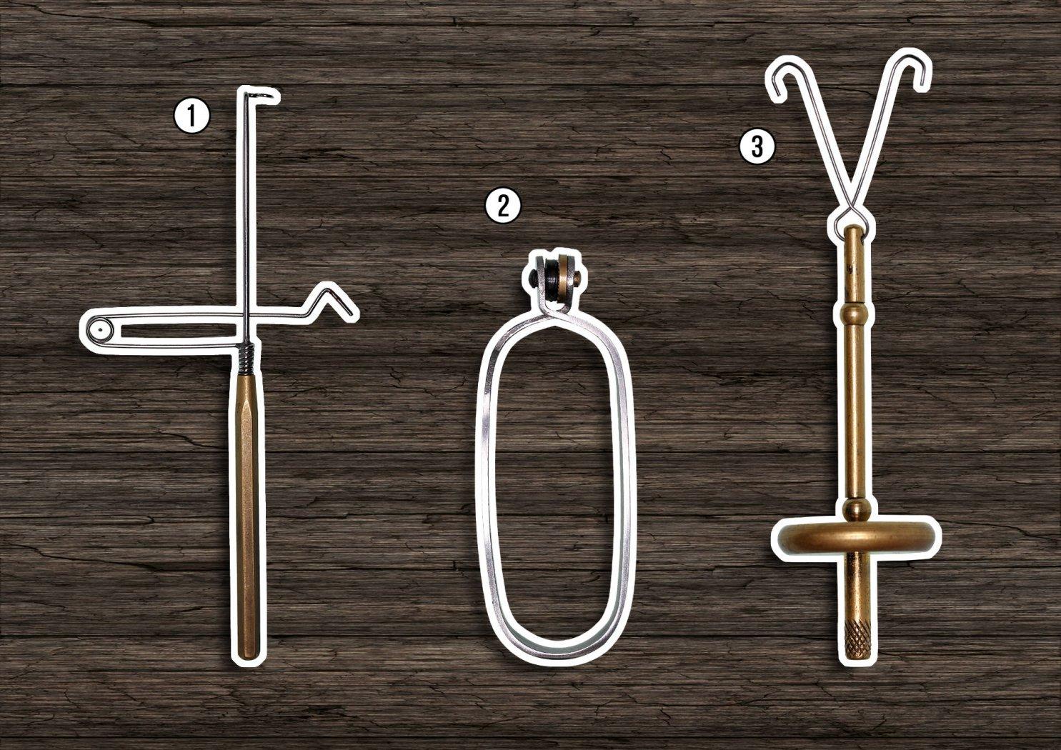 kopfknoten-binder hechelklemme dubbing-twister