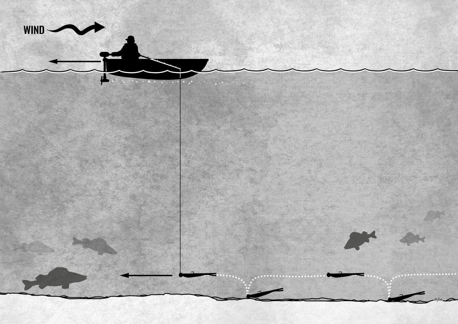 Köderführung beim Vertikalfischen