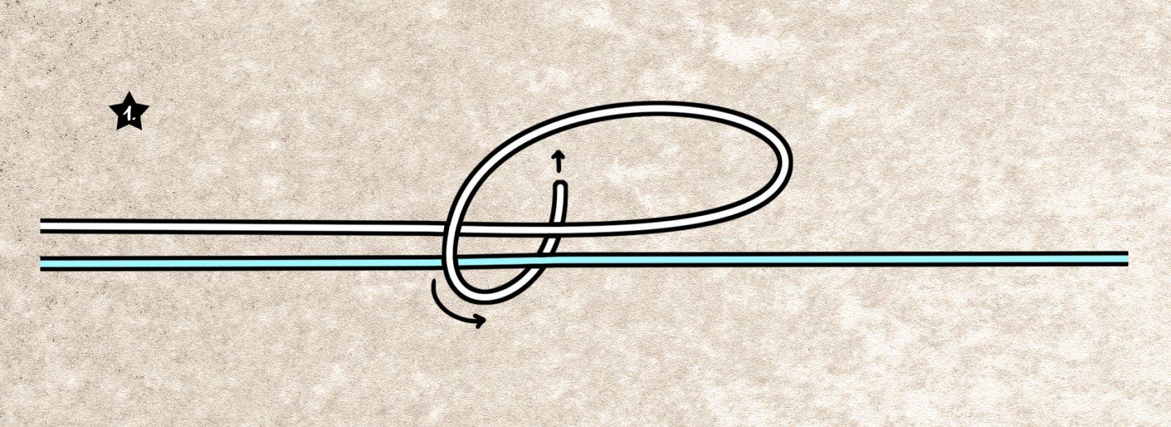 Doppelten Grinnerknoten binden