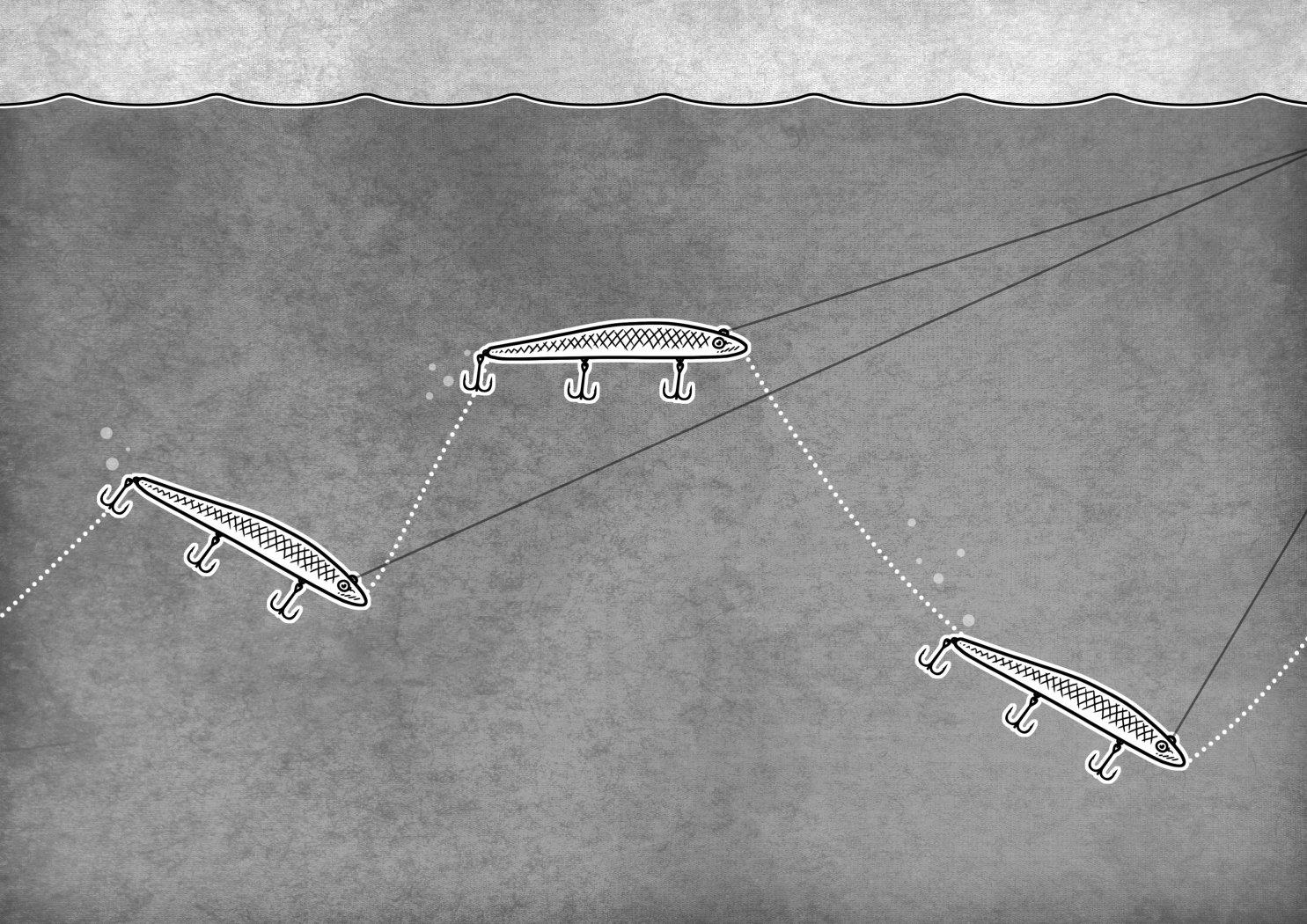 Lauf eines Diver-Jerkbaits