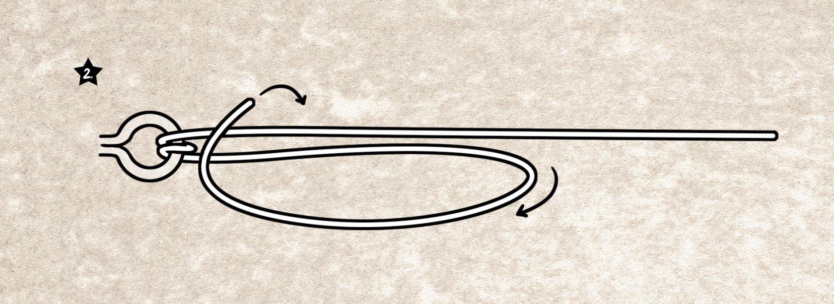 Grinner-Knoten für geflochtene Schnüre