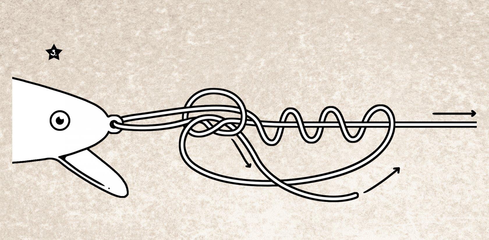 Angelknoten Rapala-Knoten