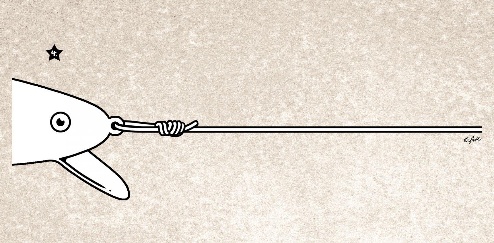 Die fertige Rapala-Schlaufe