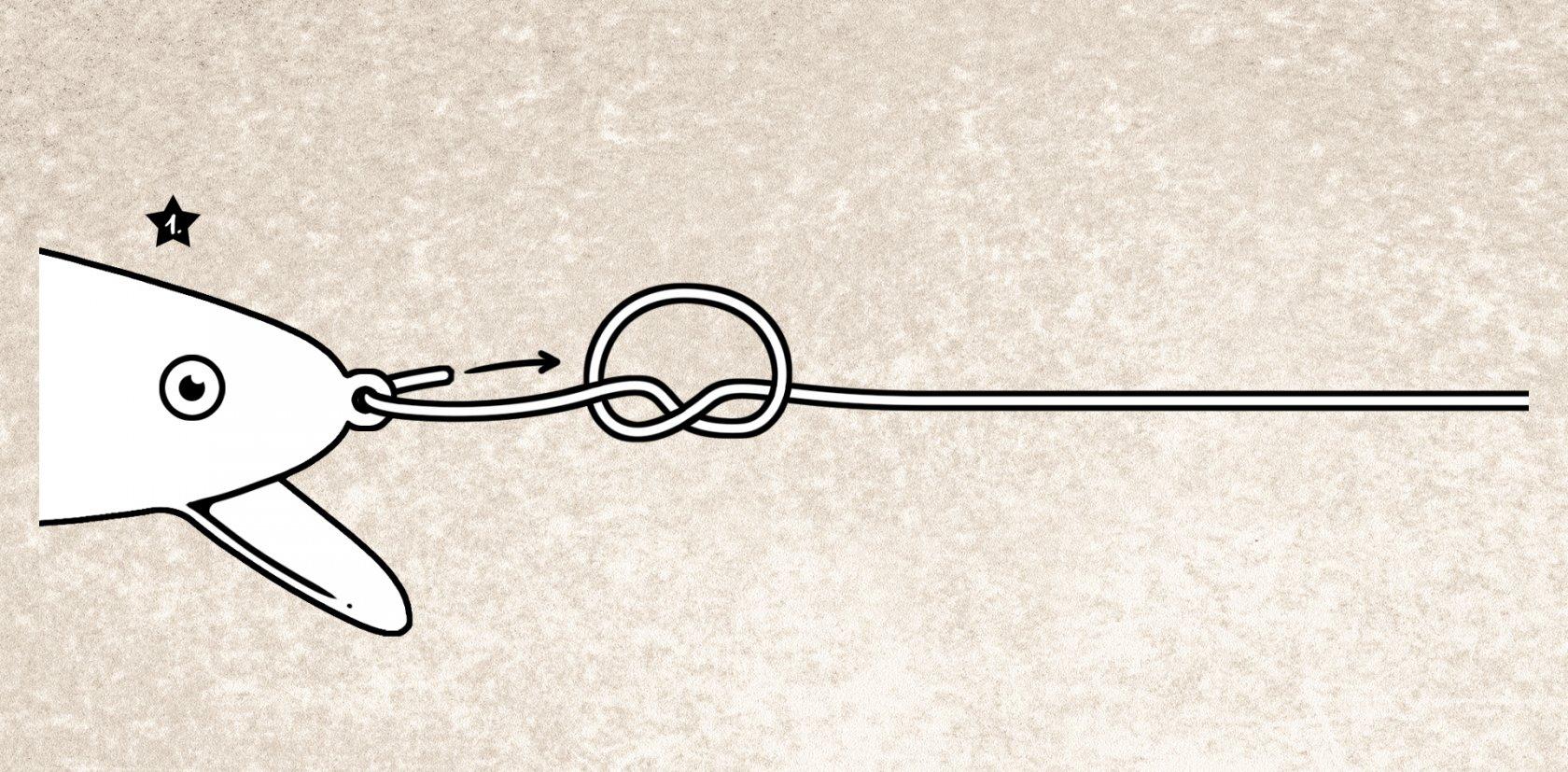 Rapala-Knoten Anleitung zum Binden