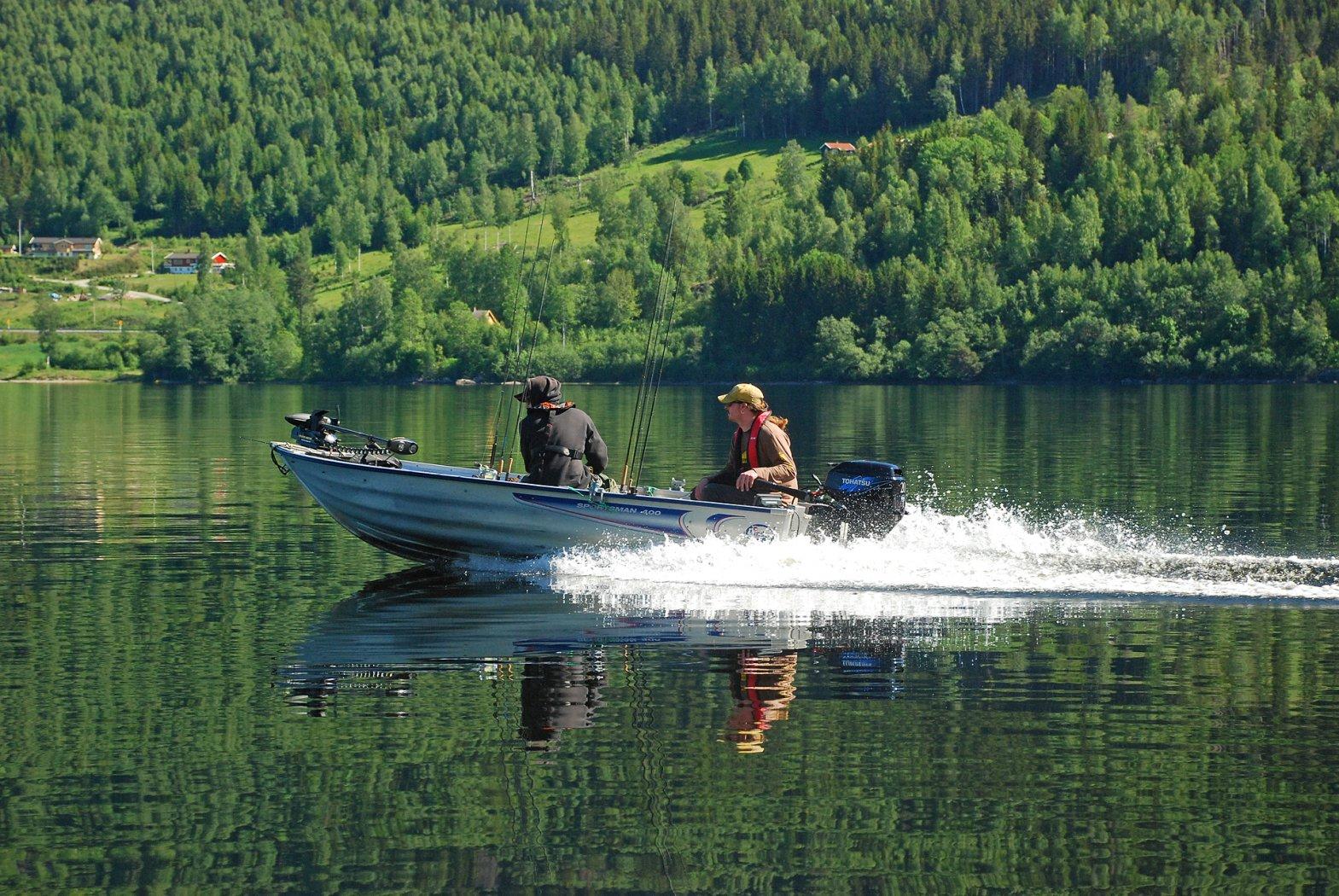 Hechtangeln in Norwegen Krøderen