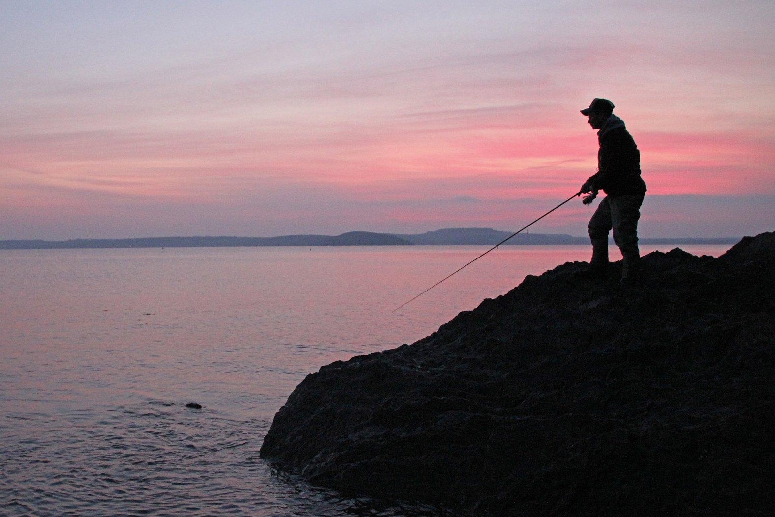 Mit der Dämmerung kommen die Makrelen dichter ans Ufer