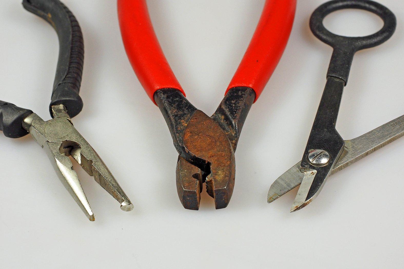 Sprengringzange, Klemmhülsenzange, Stahlvorfachschere