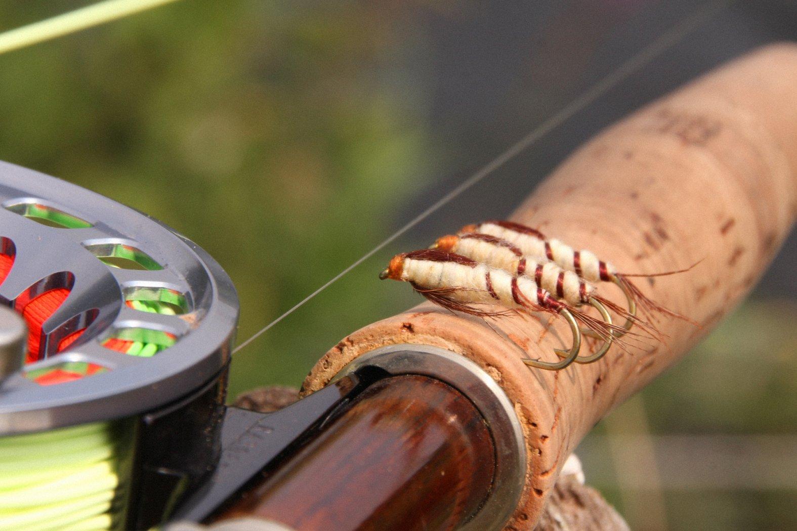 Nymphenmuster zum Fliegenfischen auf Aland