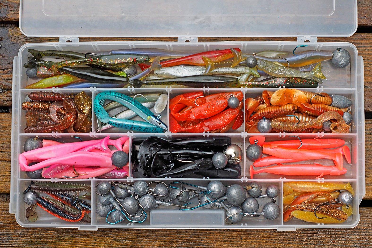 Gummifische und Twister zum Pollack angeln