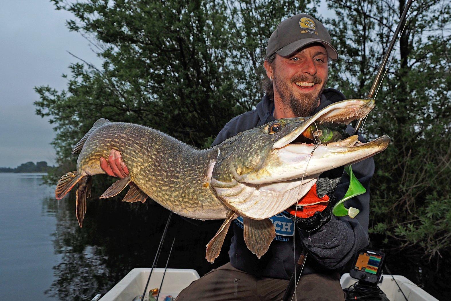 große Hechte angeln