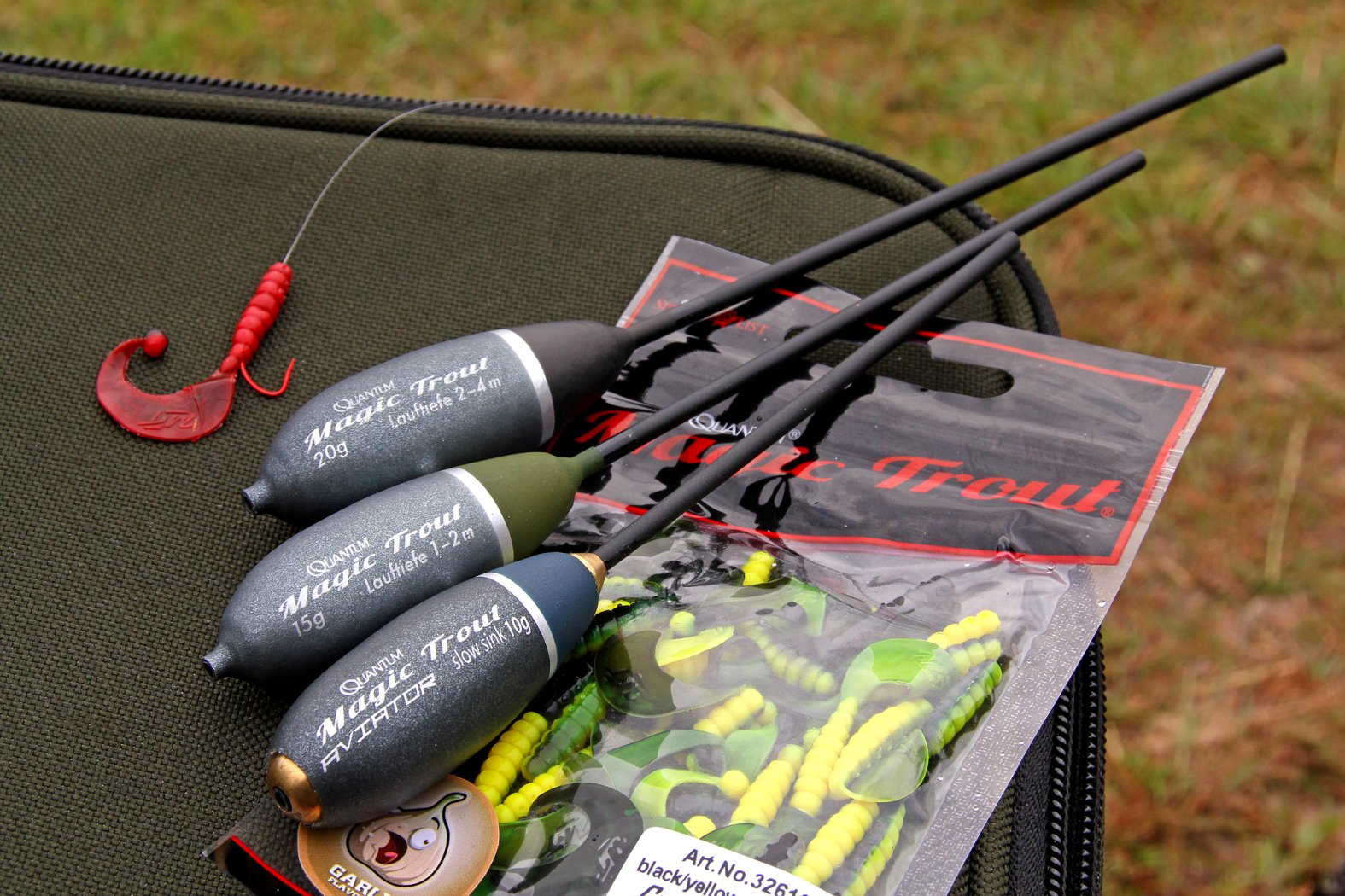 Mit Twister und Sbirolino Forellen angeln