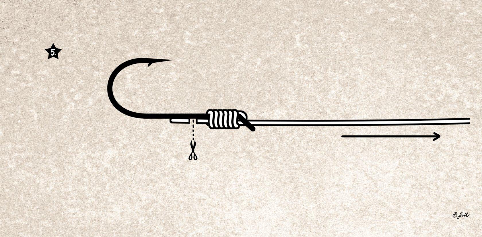 Öhrhaken bester Knoten