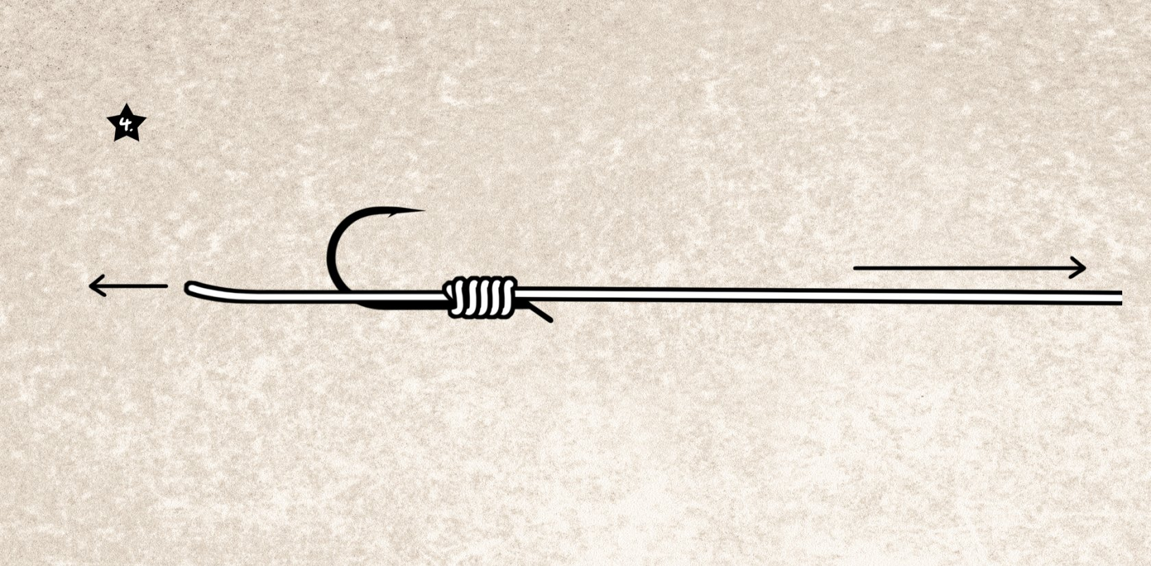 Plättchenhaken-Knoten binden