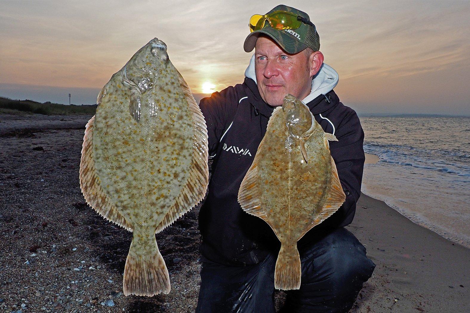 Brandungsangeln auf Plattfisch