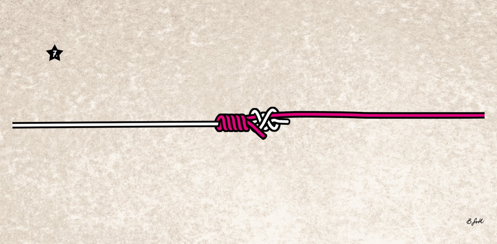 Anleitung Knoten für Fluorocarbon