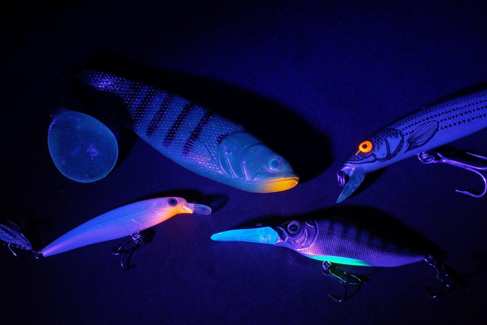 UV-aktive Farben angeln