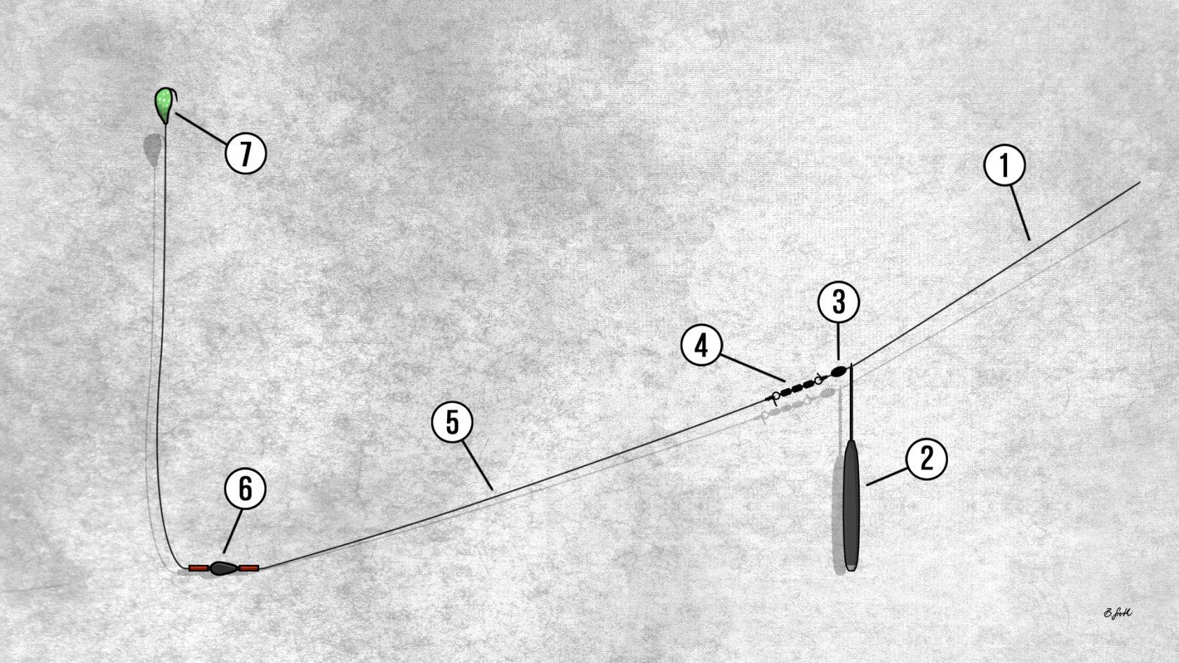 Bodentaster Montage für passives Grundangeln