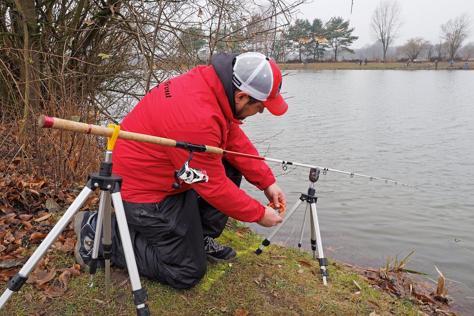 Bodentaster angeln auf Forelle