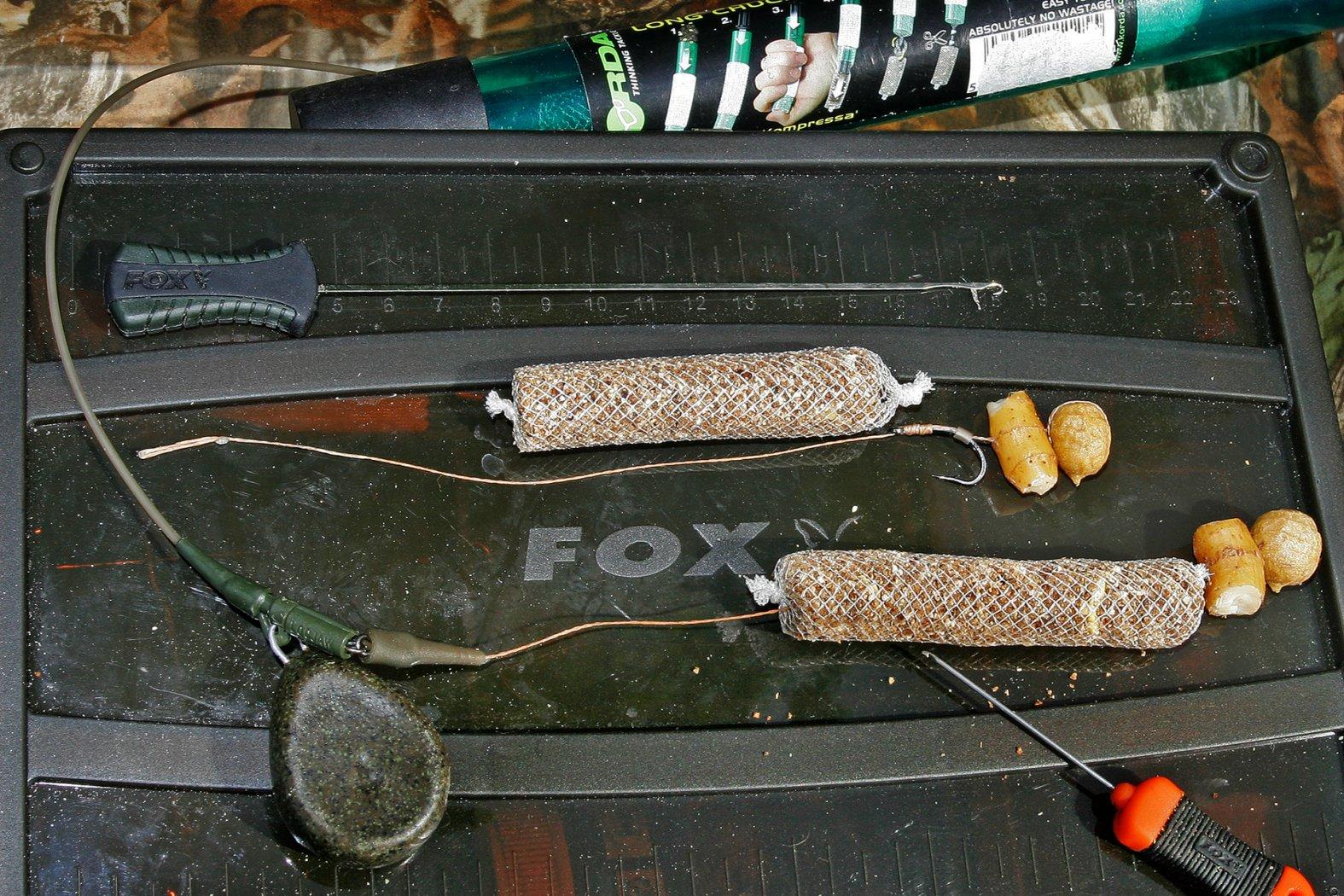 PVA-Sticks beim Karpfenangeln