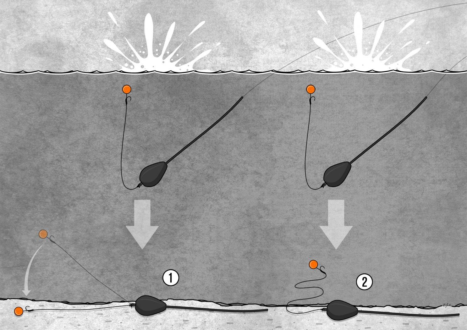 Weiches und steifes Vorfachmaterial zum Karpfenangeln im Vergleich