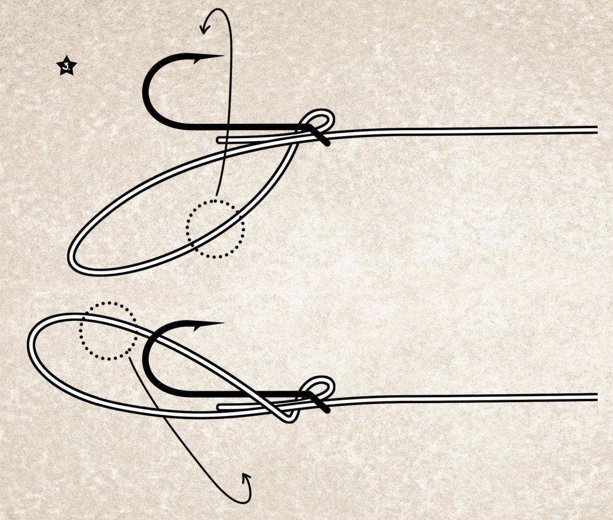 Schlaufe wickeln beim Snell-Knoten