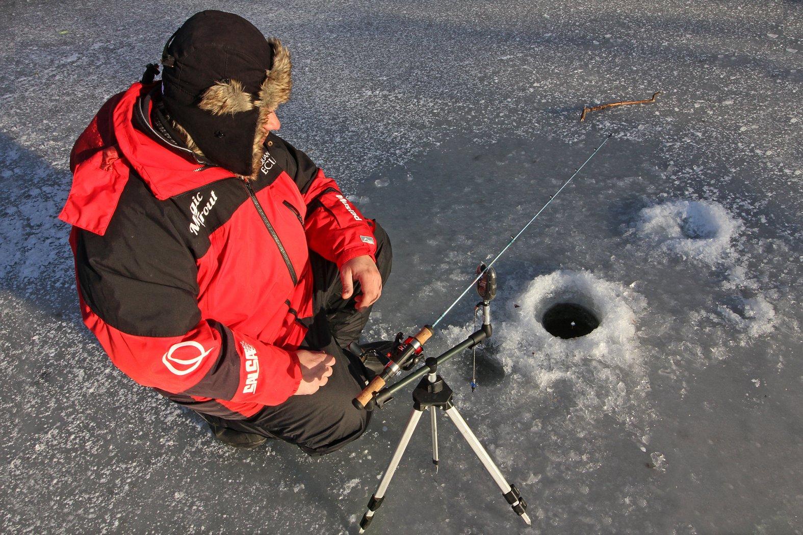 Dreibein-Rutenhalter fürs Eisangeln