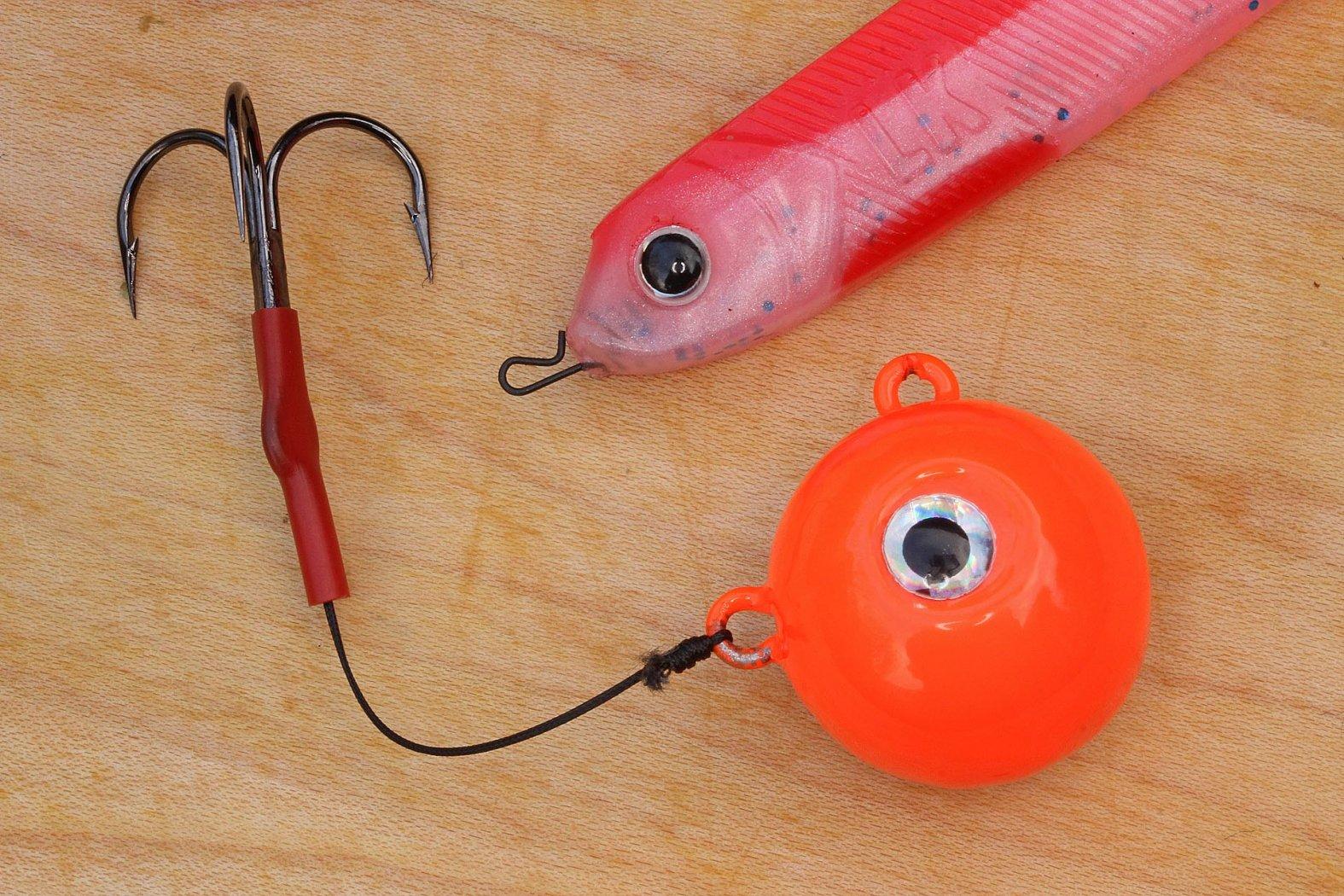 Schnellwechsel-Montage für Dorschangeln mit Gummiköder
