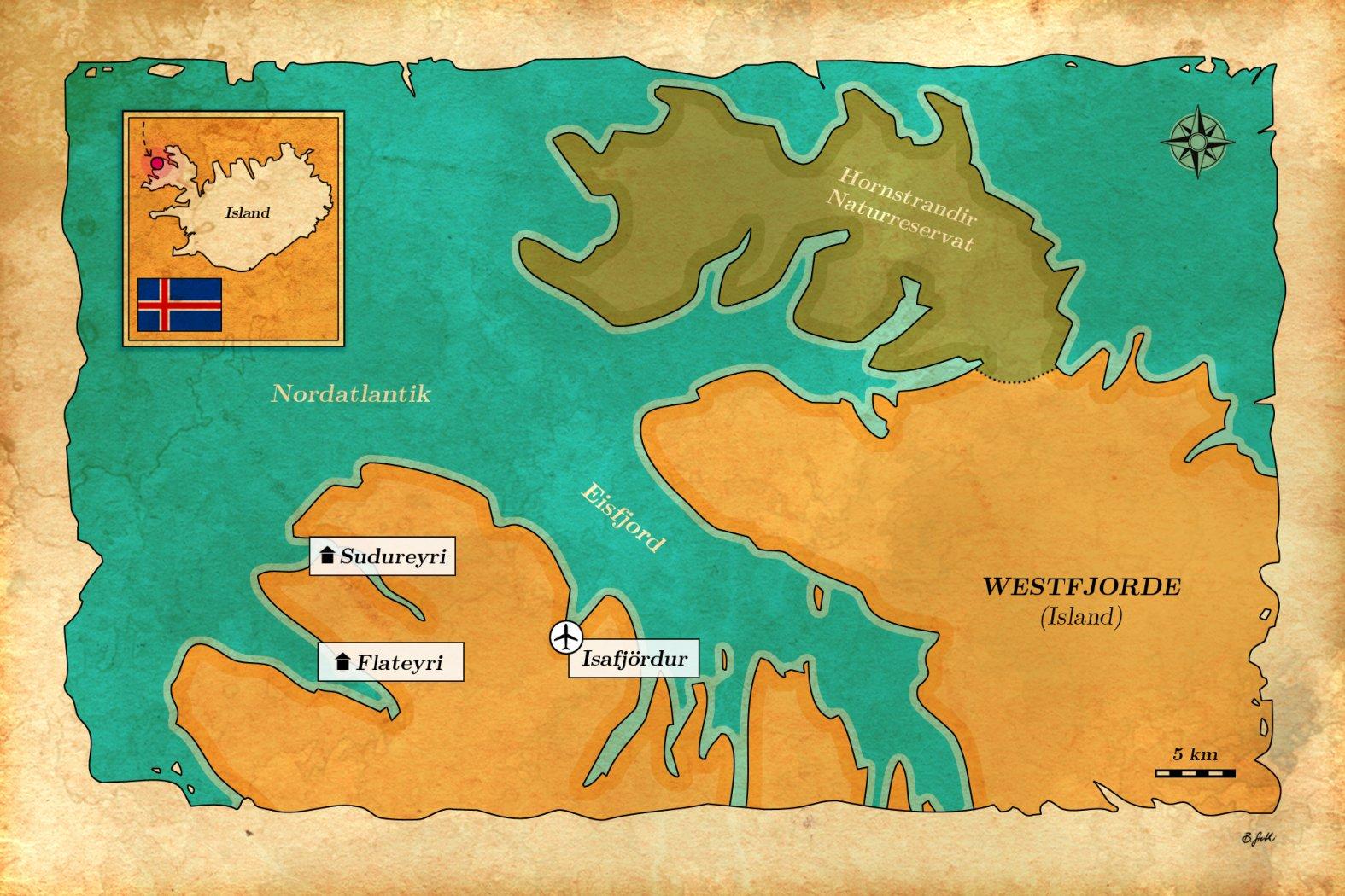 Karte Island Angeln