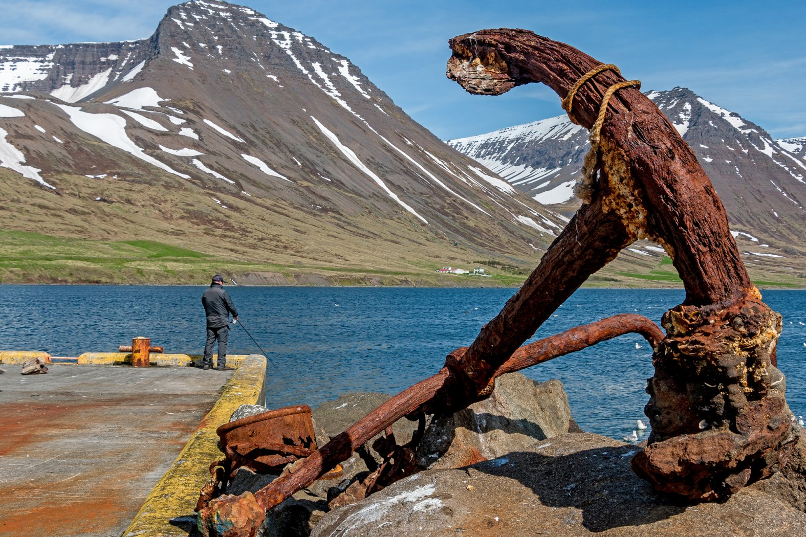 Uferangeln in Island