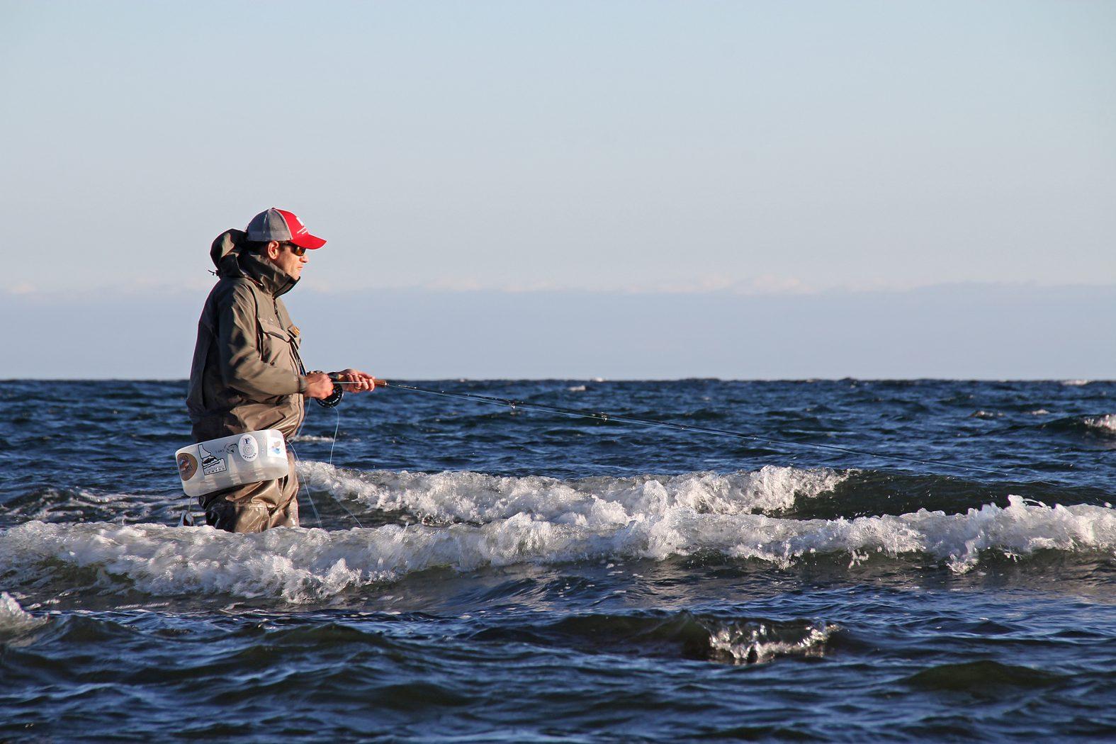 Fliegenfischen vor Stevns Klint