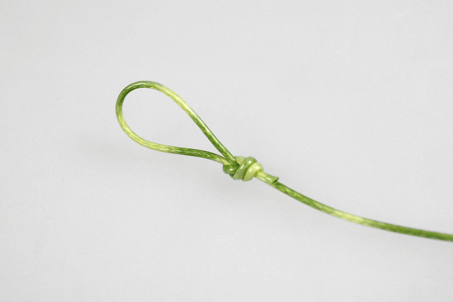 Knoten für coated hooklink
