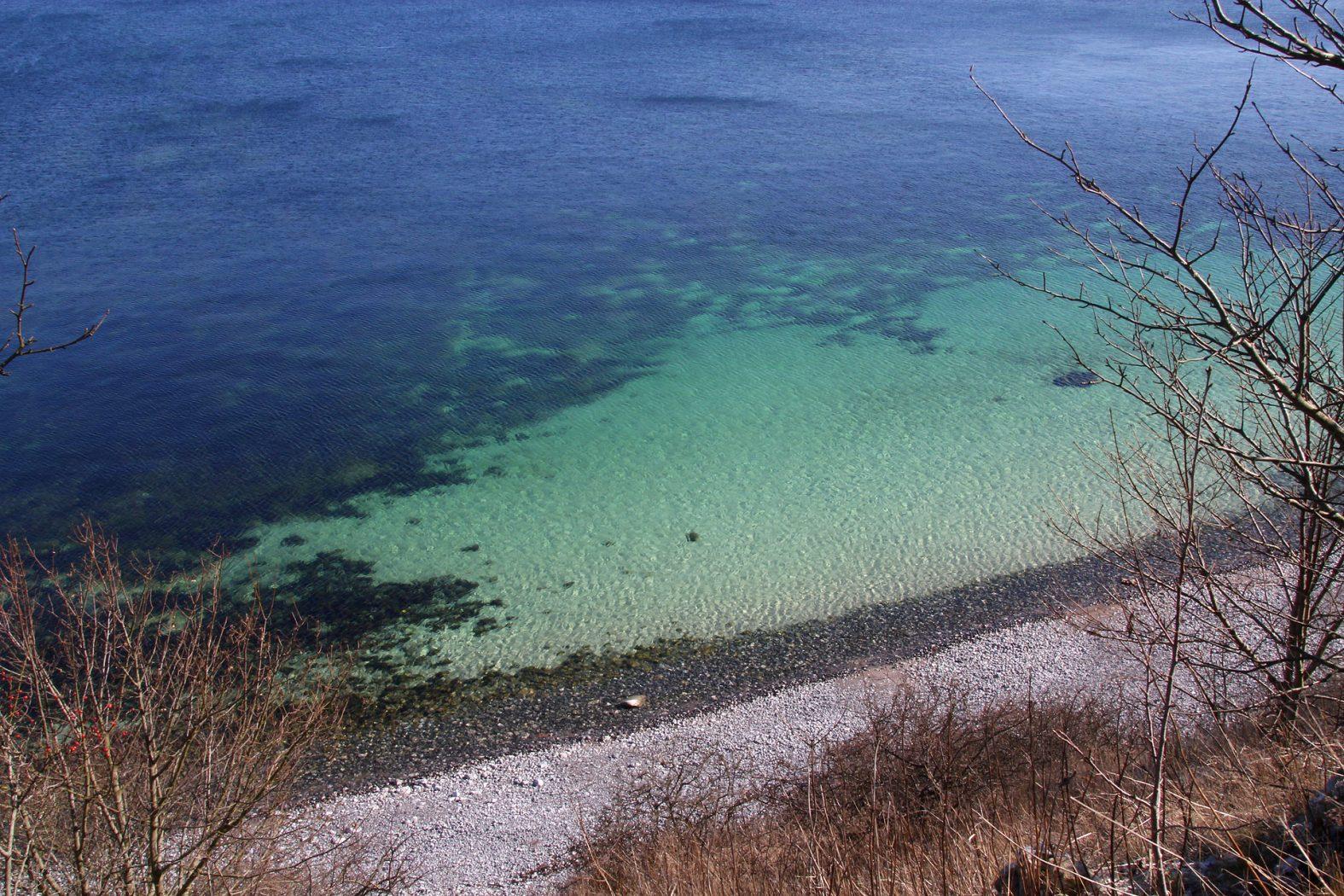 Meerforellenplatz vor der Steilküste von Stevns Klint