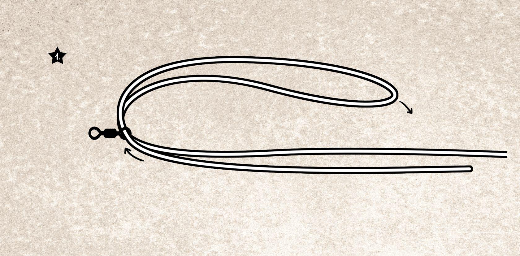 Dynacrown Knoten: der Knoten für geflochtene Schnur