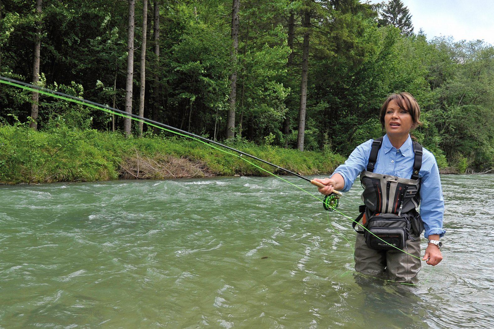 Fliegenrute und Fliegenrolle zum Streamerfischen