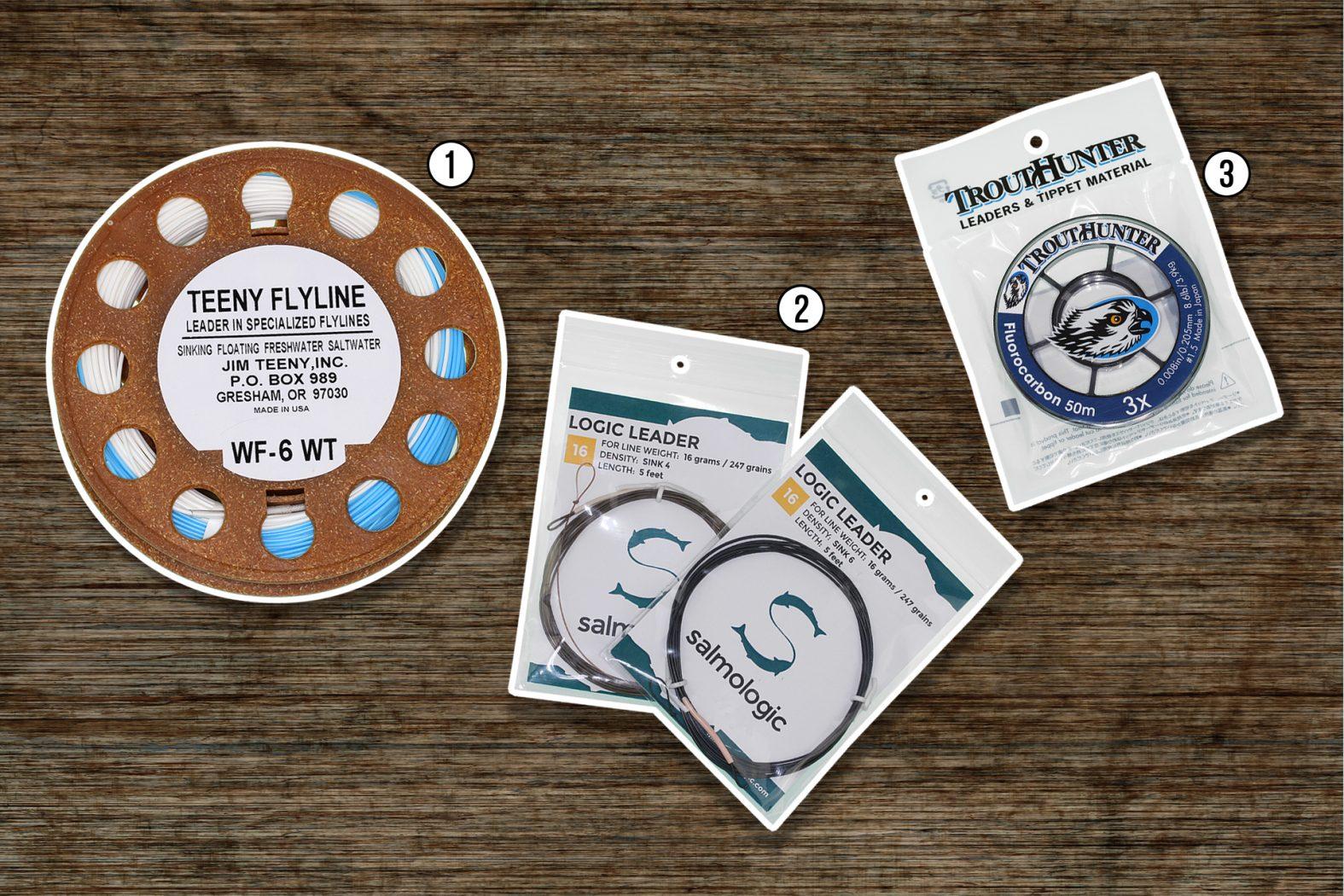 Zubehör zum Streamerfischen mit Sinkvorfach