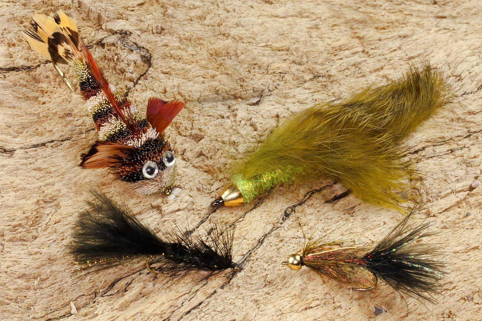 Streamer zum Fliegenfischen auf Forelle