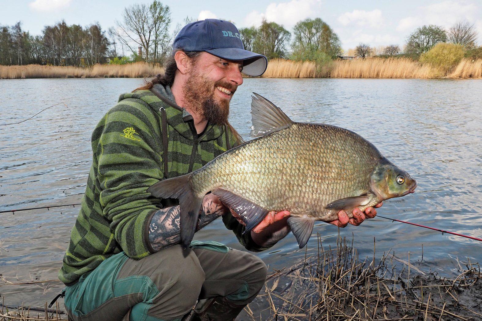 Brassen angeln mit der Winkelpicker Rute