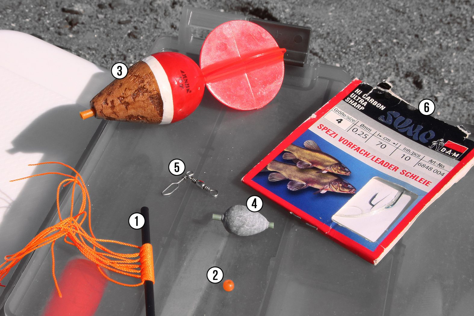 Montage zum Hornhecht angeln mit Segelpose