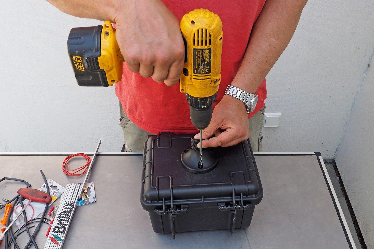 Echolot-Koffer aufbauen
